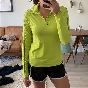 Bright yellow running shirt